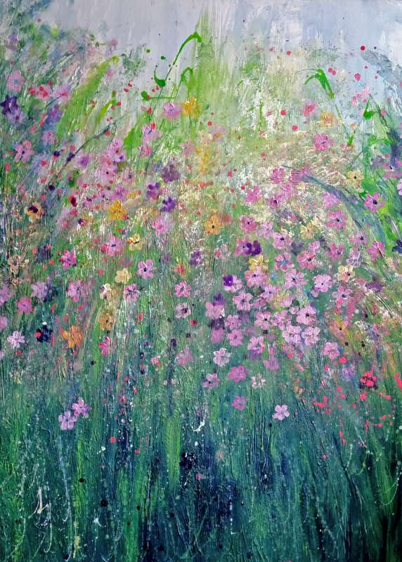 Wild Flowers in Pink