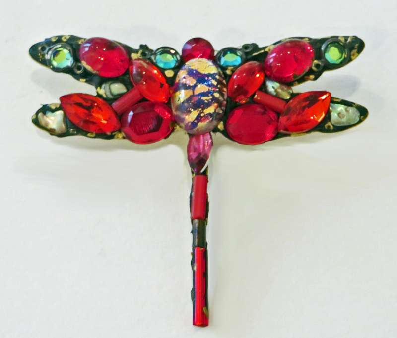 Red Dragonfly Brooch