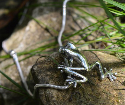 Small, Short Leg Frog Pendant