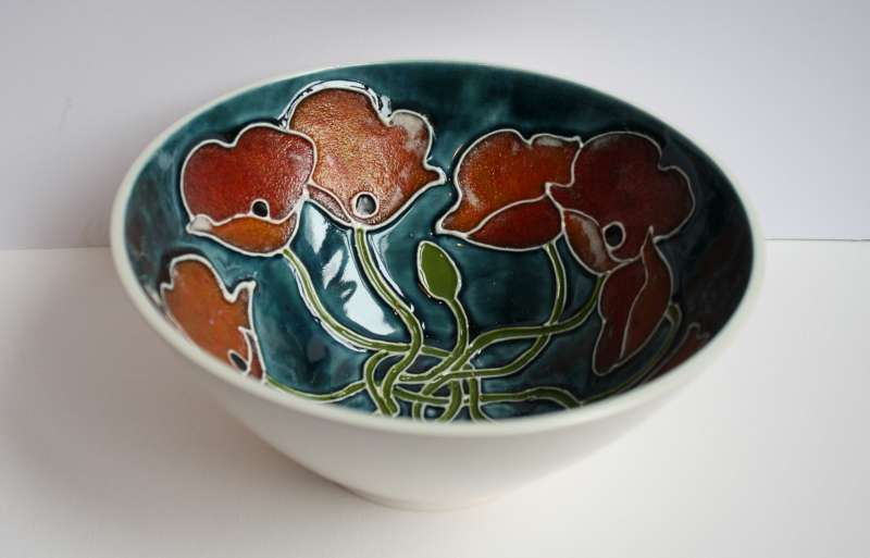 Small Porcelain Poppy Bowl