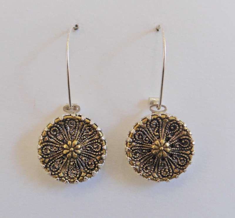 Dandelion filigree earrings