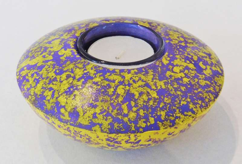 Yellow and Purple Tea Light