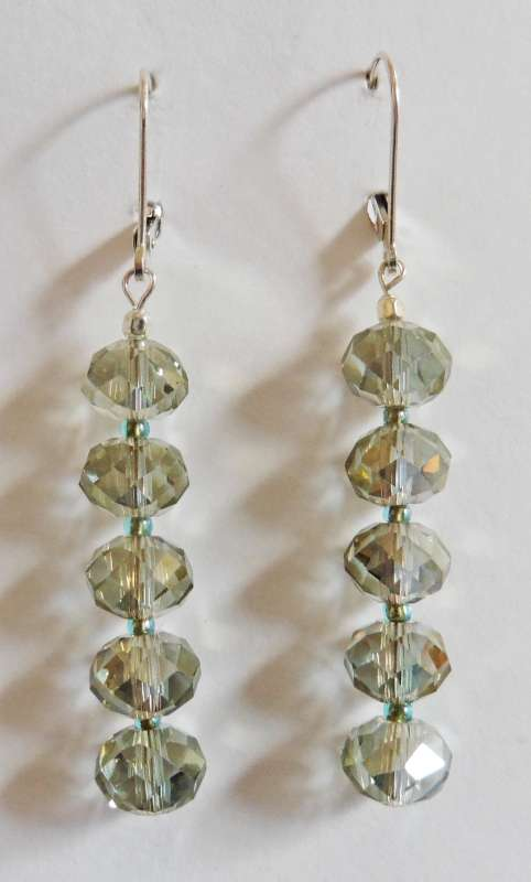 Multi crystal drop earrings