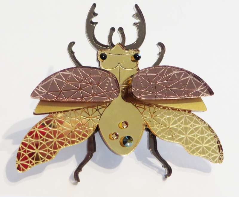 Large Insect Brooch