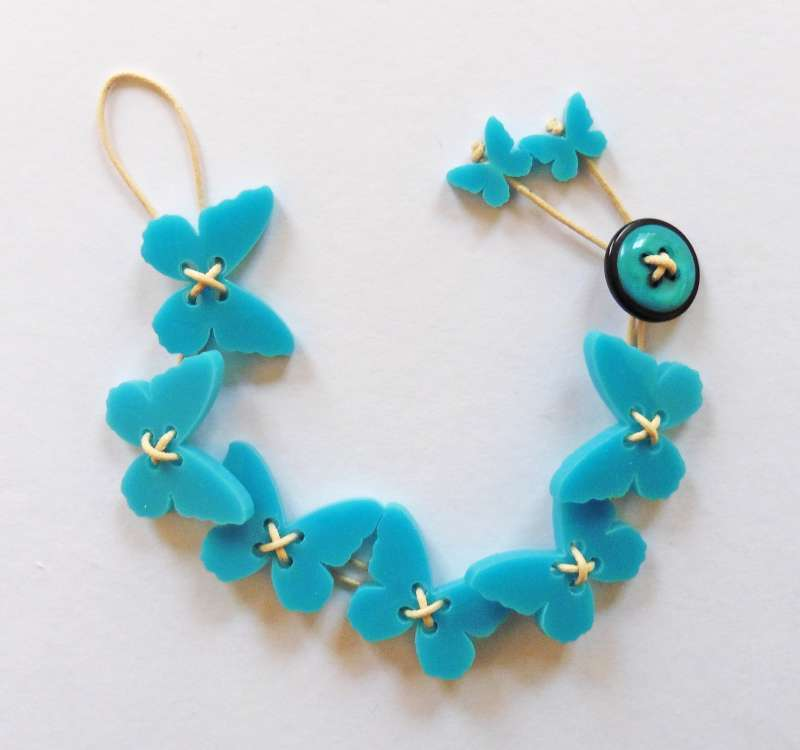 Butterfly Bracelet - Opaque Turquoise