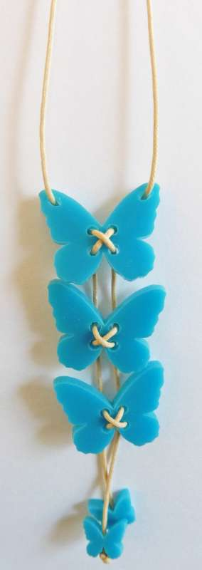 Butterfly Necklace - Opaque Turquoise
