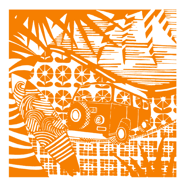 Campervanning - orange