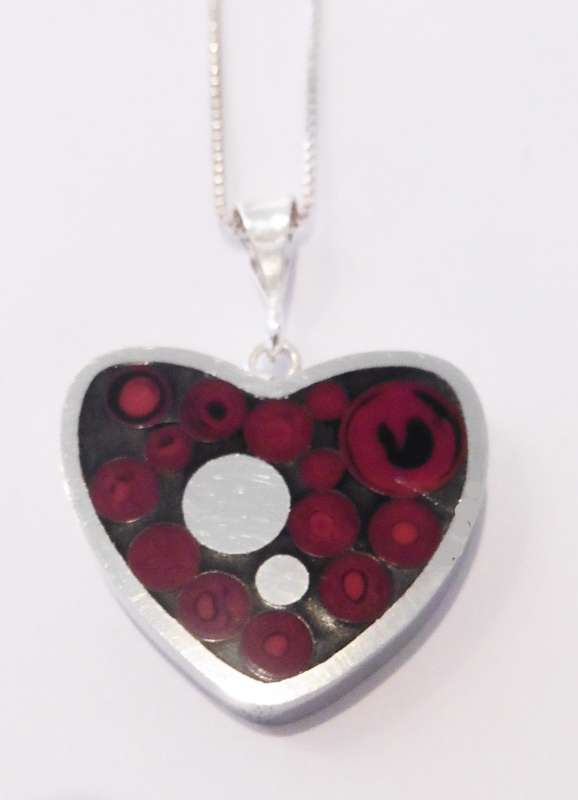 Heart cranberry pendant