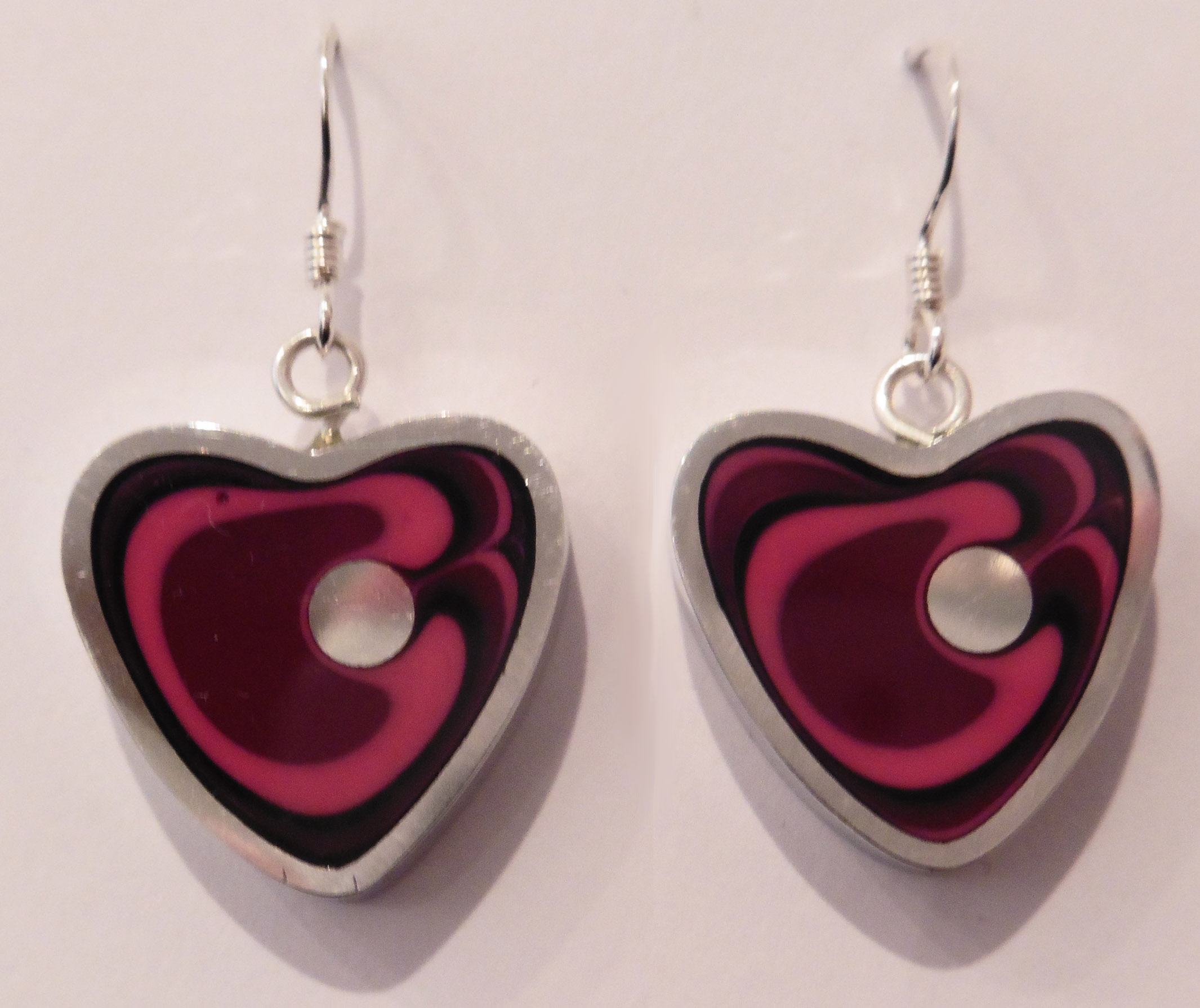 Heart azalea earrings