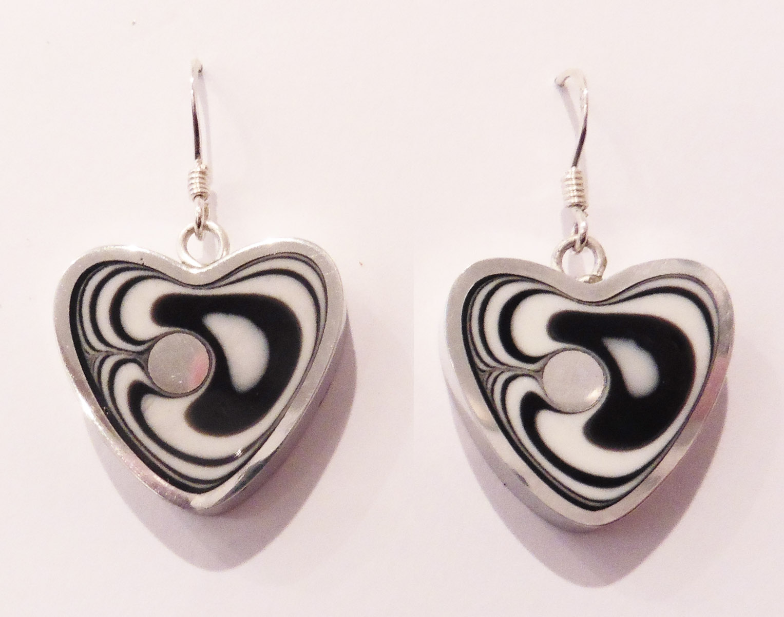 Heart winter earrings