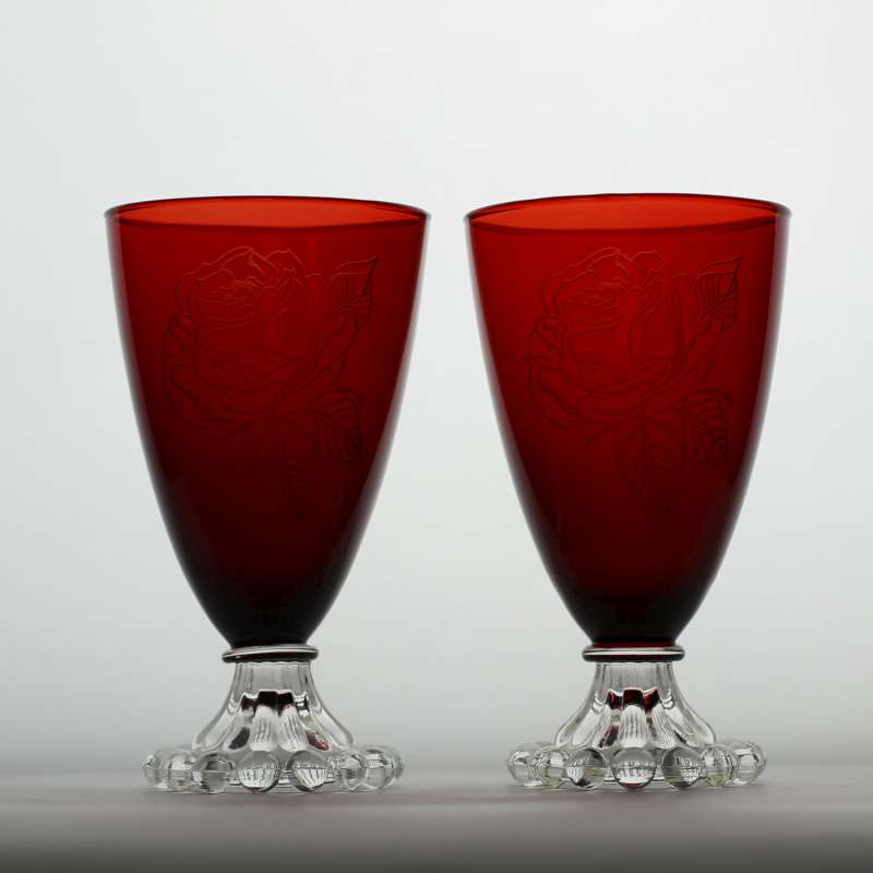 Set of Four Red Goblets