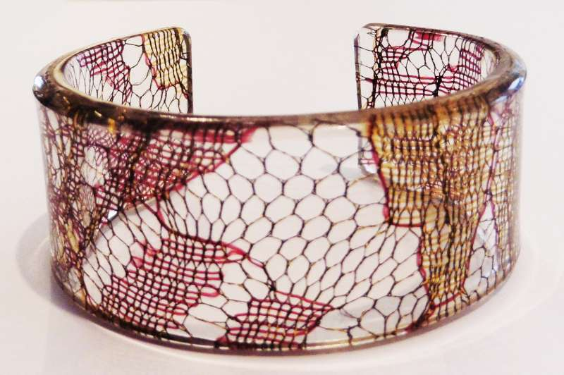 Indian lace cuff - brown