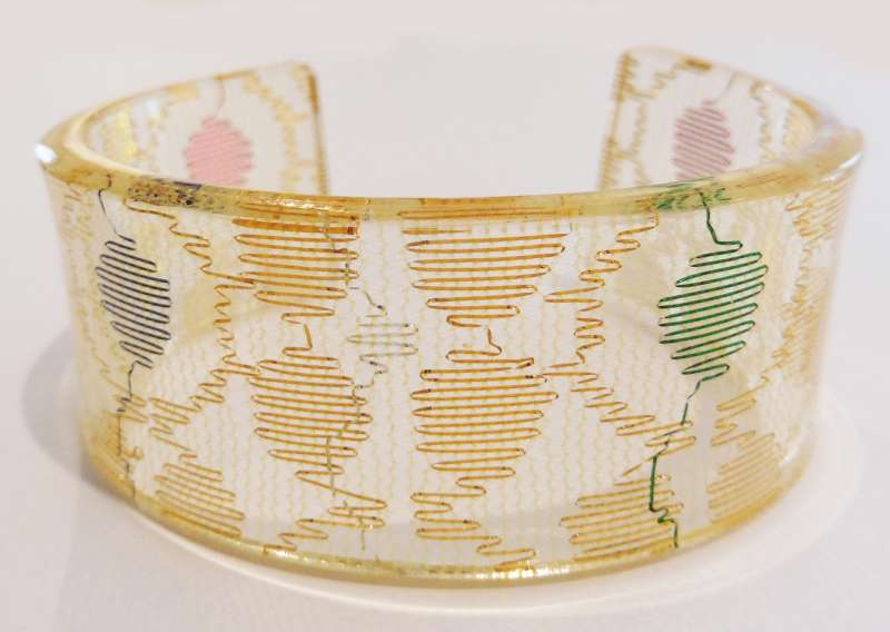 Indian lace cuff - gold