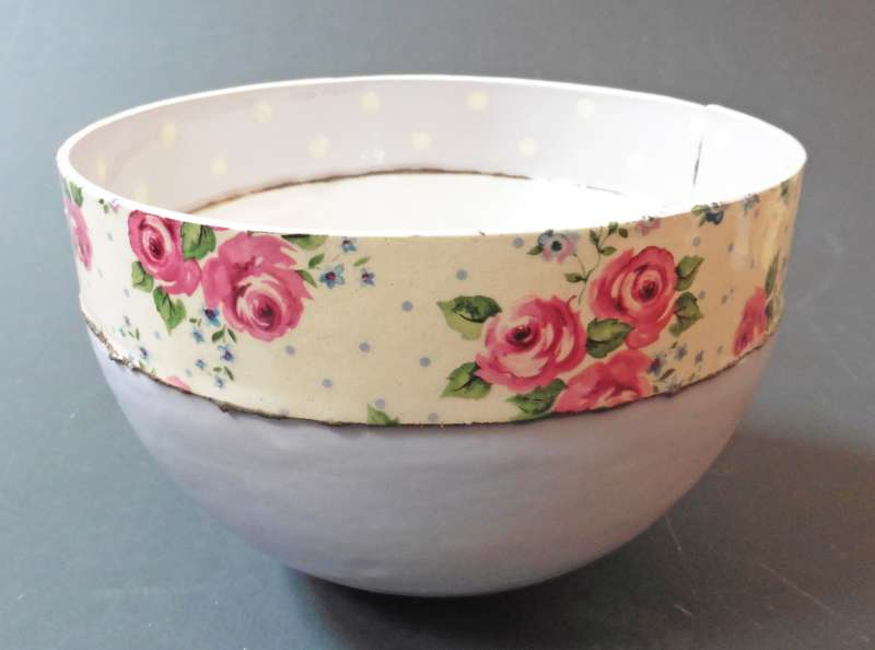 Large mauve bowl